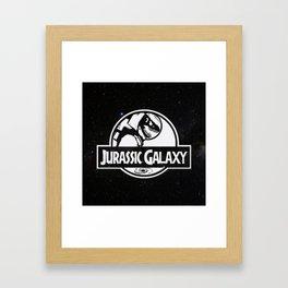 Jurassic Galaxy - White Framed Art Print