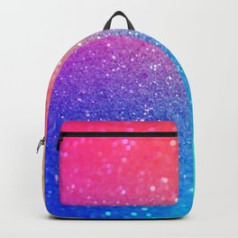 Glitter Rainbow Mermaid Sparkle Ombre Backpack