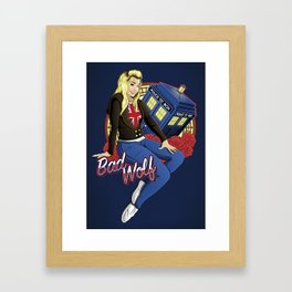 The Bad Wolf Framed Art Print