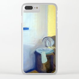 Portrait of a Trashcan Clear iPhone Case