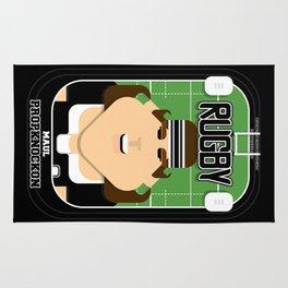 Rugby Black - Maul Propknockon - June version Rug