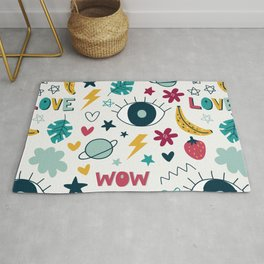 illustrations wallpaper background cute Rug