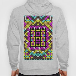 Mosaic X - Abstract, tiled, mosaic, geometric pattern Hoody