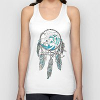 dream catcher Tank Tops featuring Dream Catcher by Huebucket
