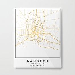 BANGKOK THAILAND CITY STREET MAP ART Metal Print