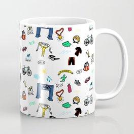 Triathlon Doodles Coffee Mug