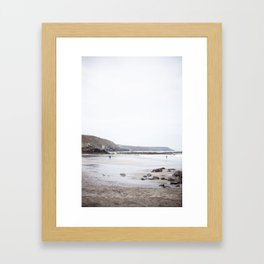 Blue Cornish Beach Framed Art Print