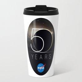 NASA's 50th Anniversary Logo Travel Mug
