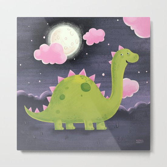 Gus the Dinosaur Metal Print
