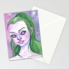 Starry eyes Stationery Cards