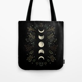 Moonlight Garden - Olive Green Tote Bag