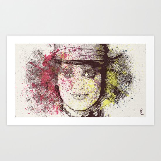 johnny depp (alice in wonderland) Art Print