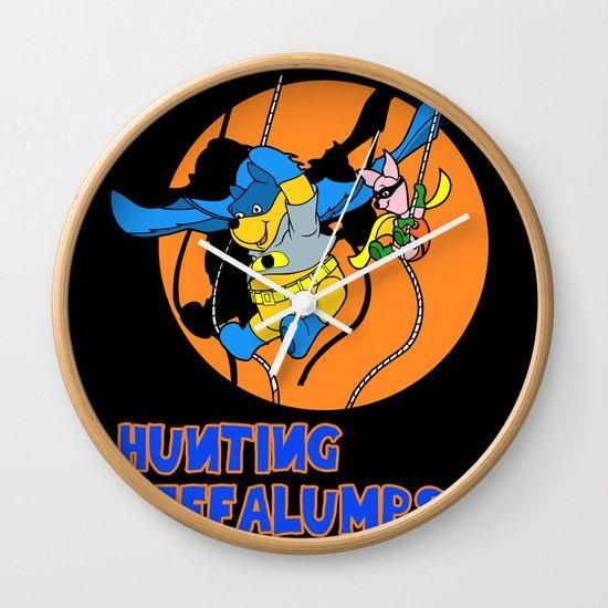 Bat Pooh! Wall Clock