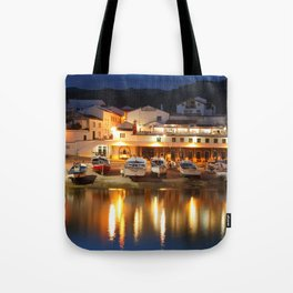Harbour at dusk Tote Bag
