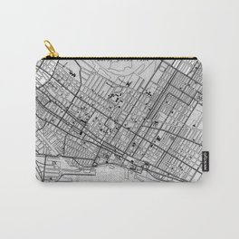 Vintage Map of Montreal (1906) BW Carry-All Pouch