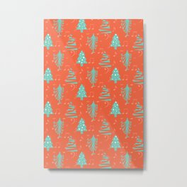 Colorful X'mas Pattern Metal Print