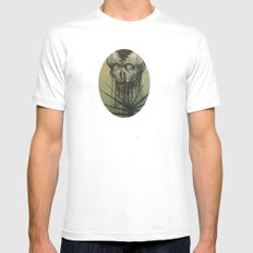 Skull White MEDIUM Mens Fitted Tee