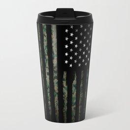American flag khaki Travel Mug