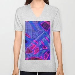 Colorful Abstract Stained Glass G298 Unisex V-Neck