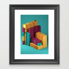 Typographic Insults #3 Framed Art Print