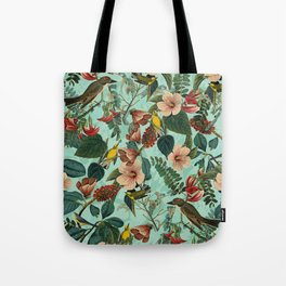 FLORAL AND BIRDS XIII Tote Bag