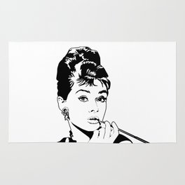 Audrey Hepburn (6) Rug