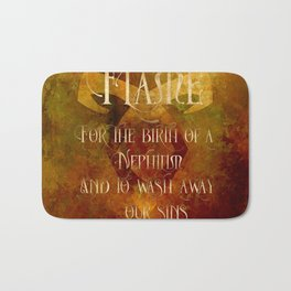 FLAME for the birth of a Nephilim and to wash away our sins. Shadowhunter Children's Rhyme. Bath Mat