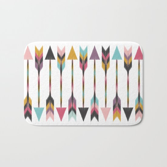 Bohemian Arrows Bath Mat