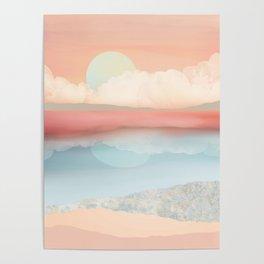 Mint Moon Beach Poster