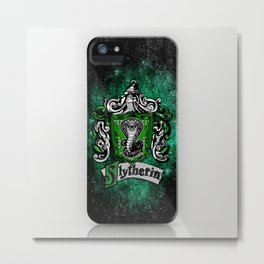 Slytherin team flag iPhone 4 4s 5 5c, ipod, ipad, pillow case, tshirt and mugs Metal Print