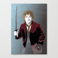 the hobbit Canvas Prints featuring Hobbit by Digital Sketch