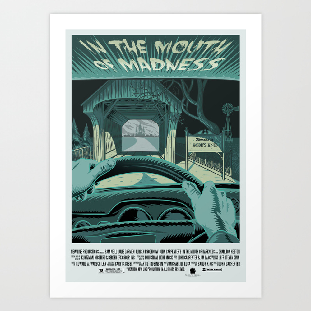 In The Mouth Of Madness Art Print by Francescodibattista PRN3236236