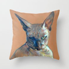 Mad Catter Throw Pillow