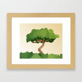 Crooked Tree Framed Art Print