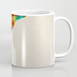 Mozambique Map in Watercolor Coffee Mug