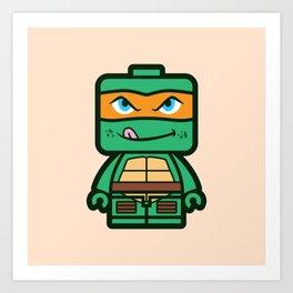 Chibi Michelangelo Ninja Turtle Art Print