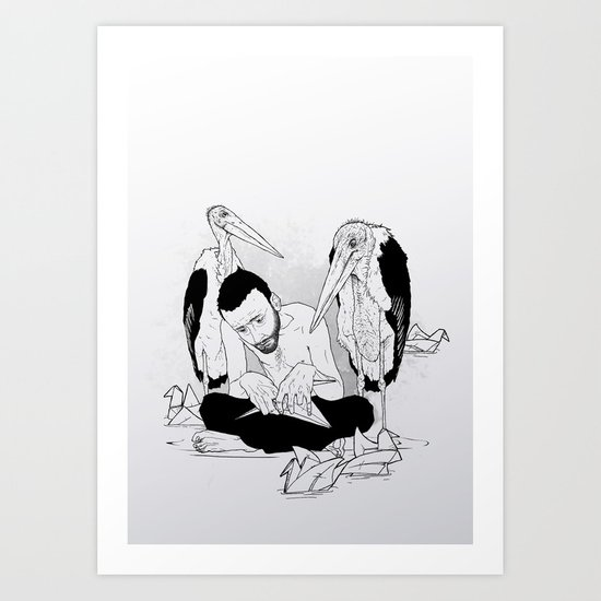 birdmaker print Art Print
