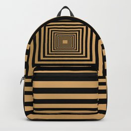 Square black and gold pattern Backpack
