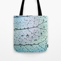 aqua Tote Bags featuring aqua by Ingrid Beddoes