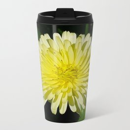 Pale Yellow Mary Bud Marigold With Garden Background  Travel Mug