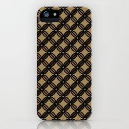 Coffee bean pattern iPhone Case