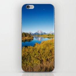 Near the Snake river looking toward Mount Moran in the Grand Tetons. iPhone Skin