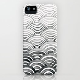 Gray Scallop Pattern iPhone Case