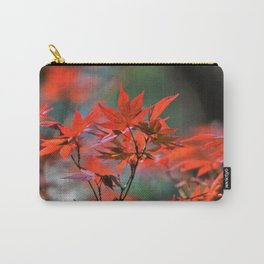 Scarlet Japanese Maple Leaves Carry-All Pouch