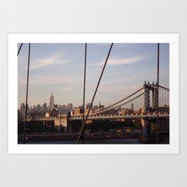 The Empire State Building and the Manhattan Bridge Art Print