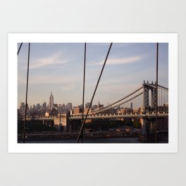 The Empire State Building and the Manhattan Bridge Art Print