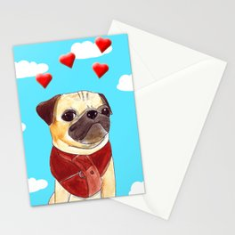 Mops Stationery Cards