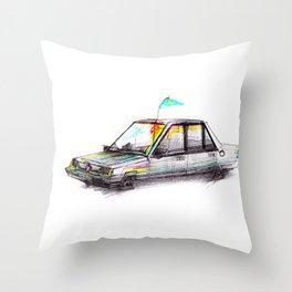 Car No. 1 Throw Pillow