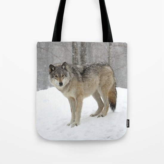 A lone wolf Tote Bag