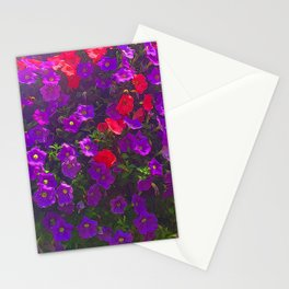 Purple Petunias Stationery Cards